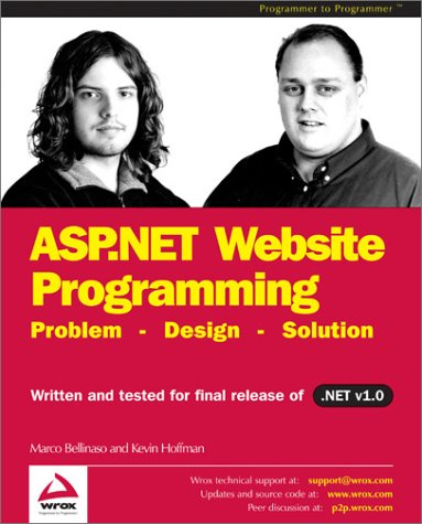 Read more about Professional ASP.NET Website Programming – Problem, Design, Solution at Amazon.com